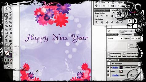 How To Create A Greeting Card In Adobe Illustrator Youtube Greeting Card Template Illustrator