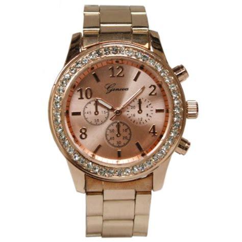 geneva boyfriend gold chronograph 9073