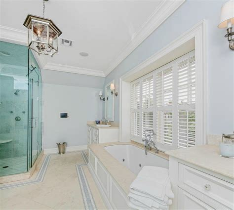 light blue bathroom paint classic shingle style home for sale home bunch interior