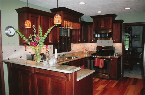 Dark Brown Cabinets Kitchen | kitchen with dark cabinets