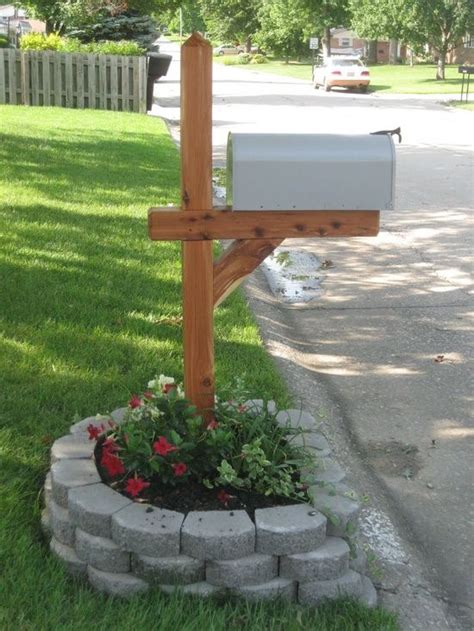 Landscape Design Generator Mailbox Ideas Mail Boxes And Flower Beds On
