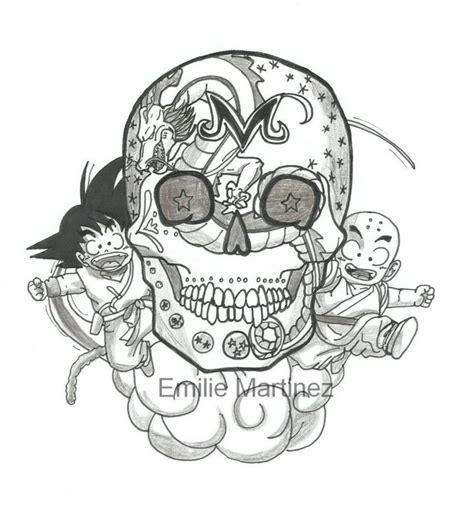 mexican skulls goku and dragon ball on pinterest