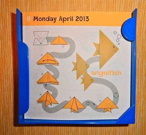 Origami Calendar - free coloring pages daily calendar challenge
