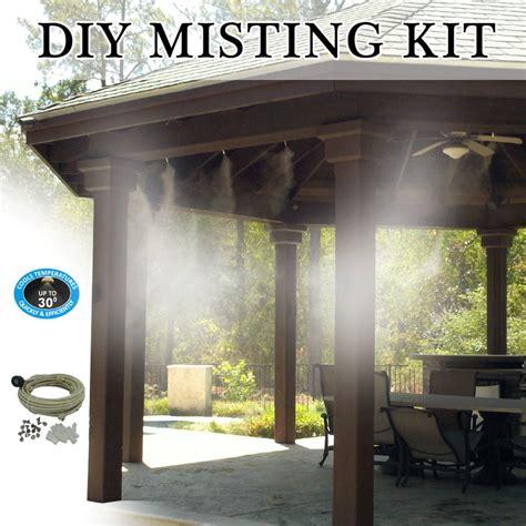 diy patio misting system    uv treated flexible