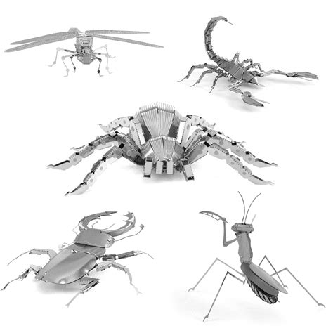 3d Metal Puzzle Beetle mags 3d metal puzzle 3d animal insect mantis scorpion stag beetle tarantula dragonfly mini