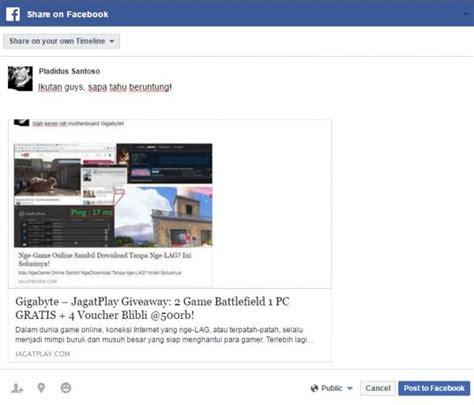 blibli facebook gigabyte jagatplay giveaway 2 game battlefield 1 pc