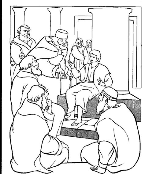Jesus At The Temple As A Boy Coloring Page Free Boyjesustemple Gif 850 215 1 022 Pixels Wednesday Night by Jesus At The Temple As A Boy Coloring Page Free