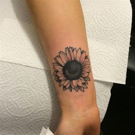 small sunflower tattoo designs sunflower on wrist www pixshark images