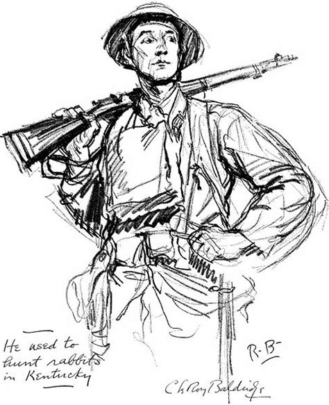 One U Sketches by Ww1 American Soldiers Drawings