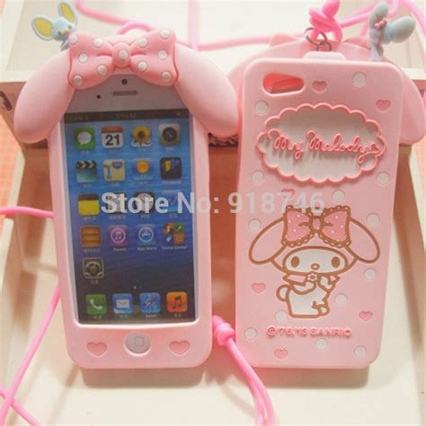 Silicon Melody Iphone 6 S Iphone 6 S Note 4 my melody for iphone 4 4s 5 5s lanyard melody silicone for iphone 6 4 7
