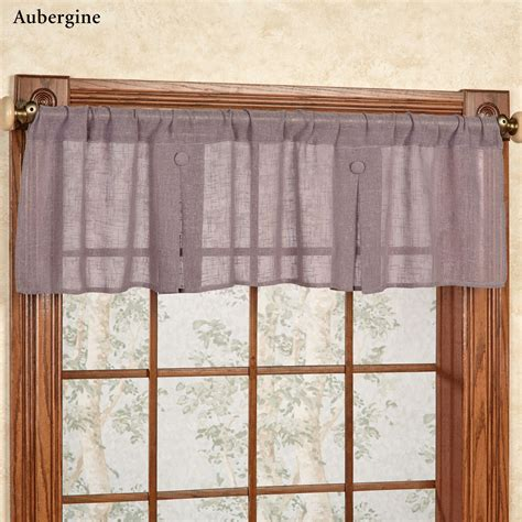 box window valance shannon semi sheer box pleated window valance