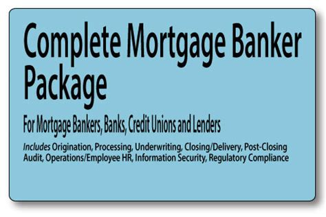 mortgage loan processing manual books mortgage banker policies and procedures complete package