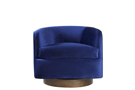 blue swivel chair patagonia home