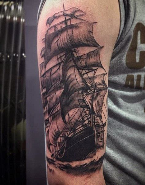 sailing tattoo designs 70 ship ideas for a sea of sailor designs