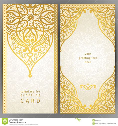 card frame template 2x2 vintage ornate cards in style stock vector