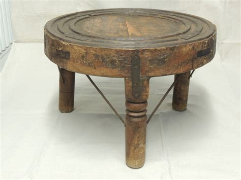 indian wheel coffee side table at 1stdibs
