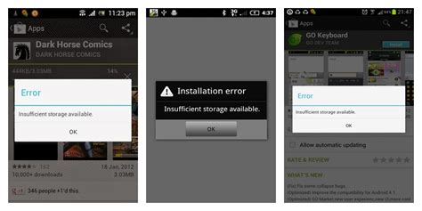 insufficient storage android fix how to fix insufficient storage available error on your android