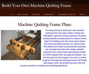 Machine Quilt Frame Plans by Buildaquiltingframe Build Your Own Machine Quilting