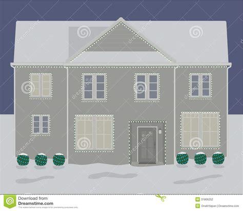2 story christmas lights house winter christmas lights stock photography image