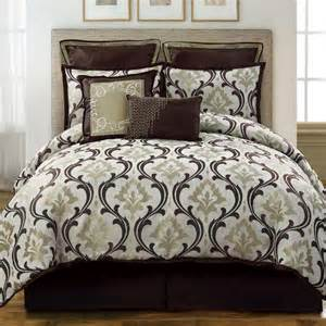 sage comforter sets winchester sage brown 8 piece comforter bed in a bag set