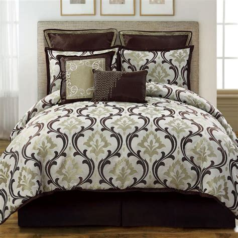 sage comforter sets winchester queen sage brown 8 piece comforter bed in a