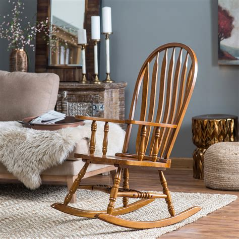 Living Room Wooden Chairs Belham Living Rocking Chair Oak Indoor Rocking Chairs At Hayneedle