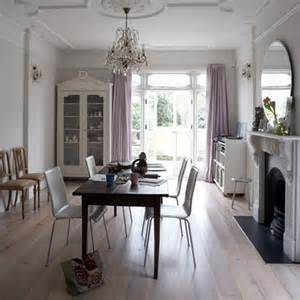 White Dining Room Curtains Lavender Curtains Eclectic Dining Room House To Home