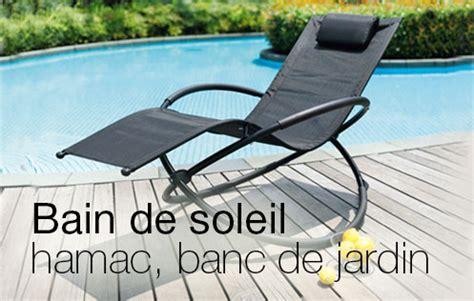 banc truffaut transats bain de soleil hamac banc de jardin