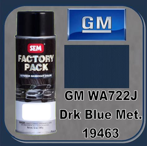 sem 19463 sem factory pack basecoat gm paint code wa722j