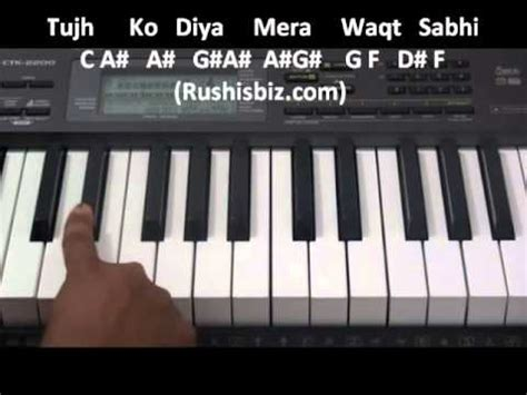 keyboard tutorial of tum hi ho tum hi ho aashiqui2 full song piano tutorial youtube