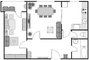 creating blueprints basic floor plans solution conceptdraw com
