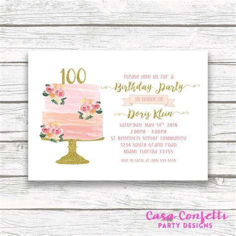 100th Birthday Invitation Cake Birthday Invitation 100th Birthday Invitation Templates Free