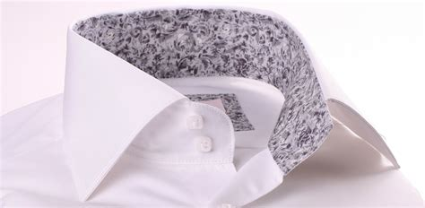 pattern on white shirt white shirt with light grey pattern collar and cuffs