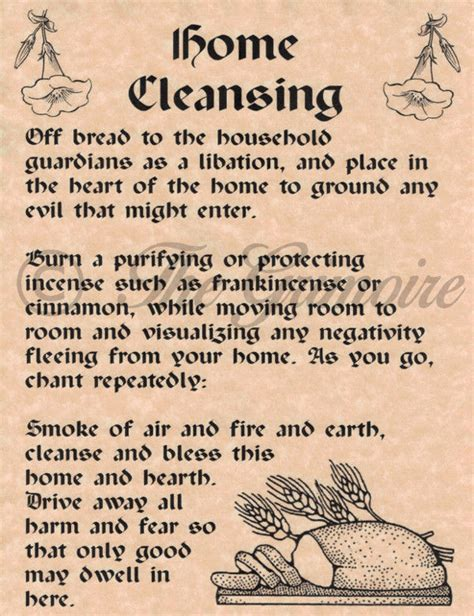 House Cleansing With by Home Cleansing Spell For Book Of Shadows Bos Pages Real