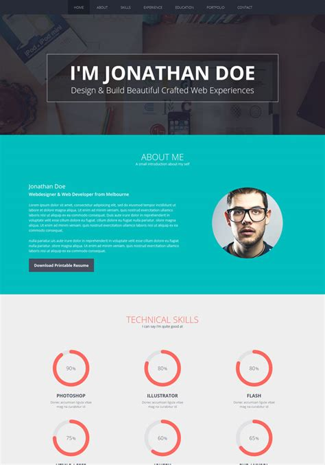Cv Website Template by 10 Top Cv And Resume Website Templates