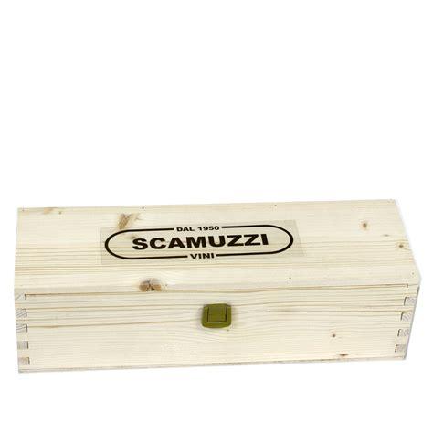 cassetta legno cassetta in legno da 1 bottiglia enoteca scamuzzi