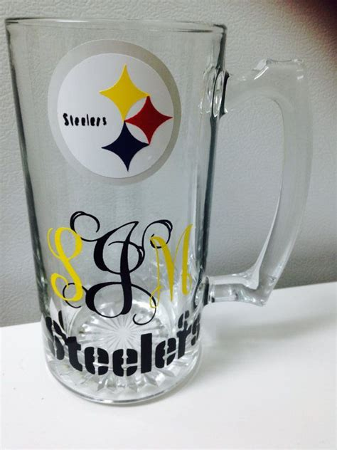 monogrammed pittsburgh steelers mug by countrycraftsnmore