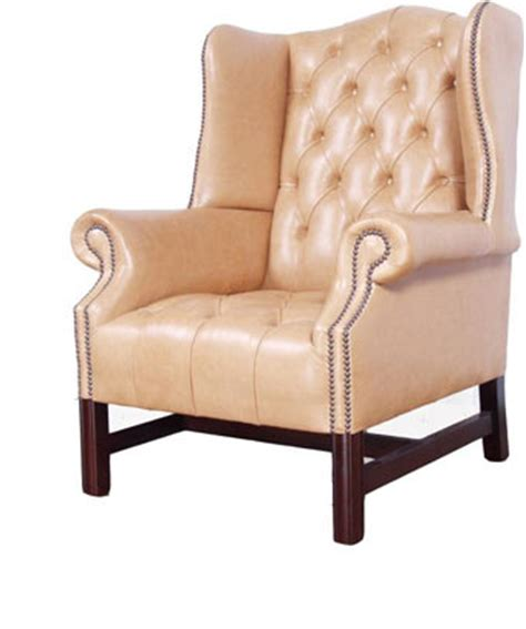 big cing chairs wing back chair the leather wing backed chair by