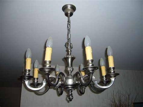 lustre etain lustre rustique en 233 tain 8 branches meubles d 201 coration
