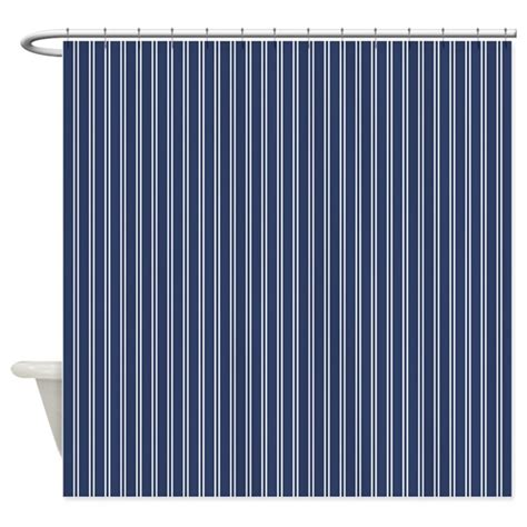 pinstripe shower curtain pinstripe double navy shower curtain by admin cp45405617