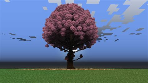 cherry tree minecraft cherry blossom tree minecraft project