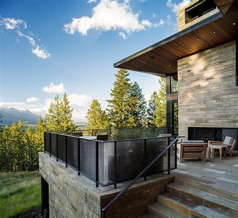 House Design Panoramic View Spectacular Wyoming Butte Compound Attributes Contemporary