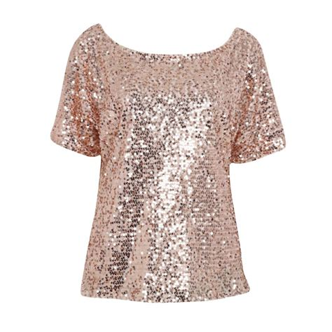 Blouse Squin Top aliexpress buy sequin stitching tops blouse fashion bling 3 4 sleeve shirt tops