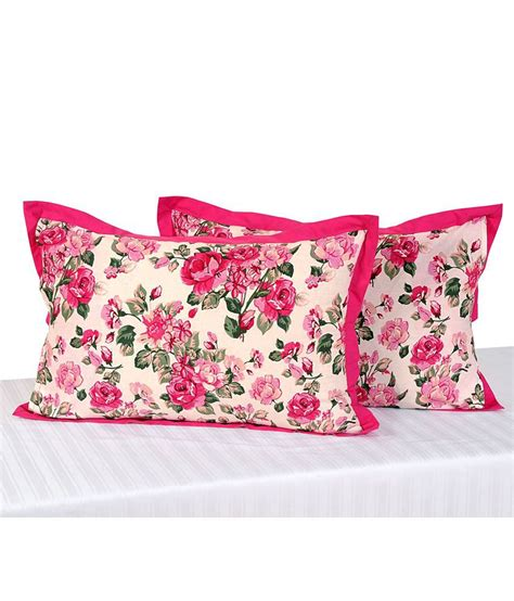Deals On Pillows by Swayam Printed Pillow Cover Set Of 2