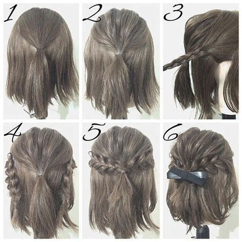 quick and easy hairstyles for short hair step by step half up hairstyles for short hair hacks tutorials easy