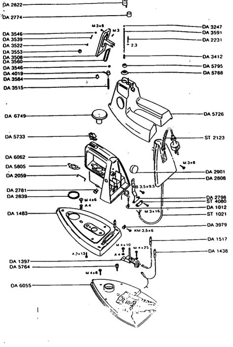 rowenta iron parts diagram rowenta da21 1 small appliance spares buyspares