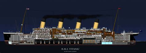 sinking of the rms titanic rms titanic cross section of the rms titanic the