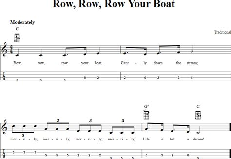 row row your boat chords piano row row row your boat chords sheet music and tab for