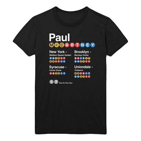 Tshirt New York 5 by New York Subway Black T Shirt Shop The Paul Mccartney