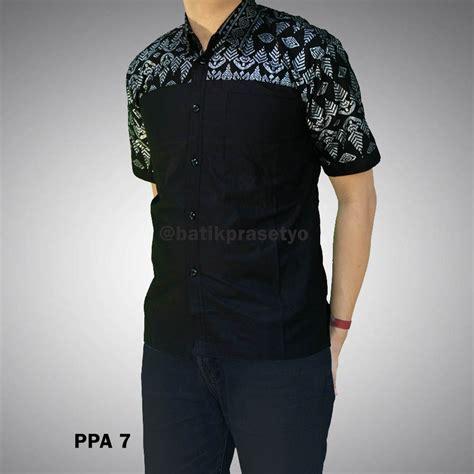 Set Kemeja 86 Warna Hitam kemeja batik pria kombinasi prada ppa 7 batik prasetyo